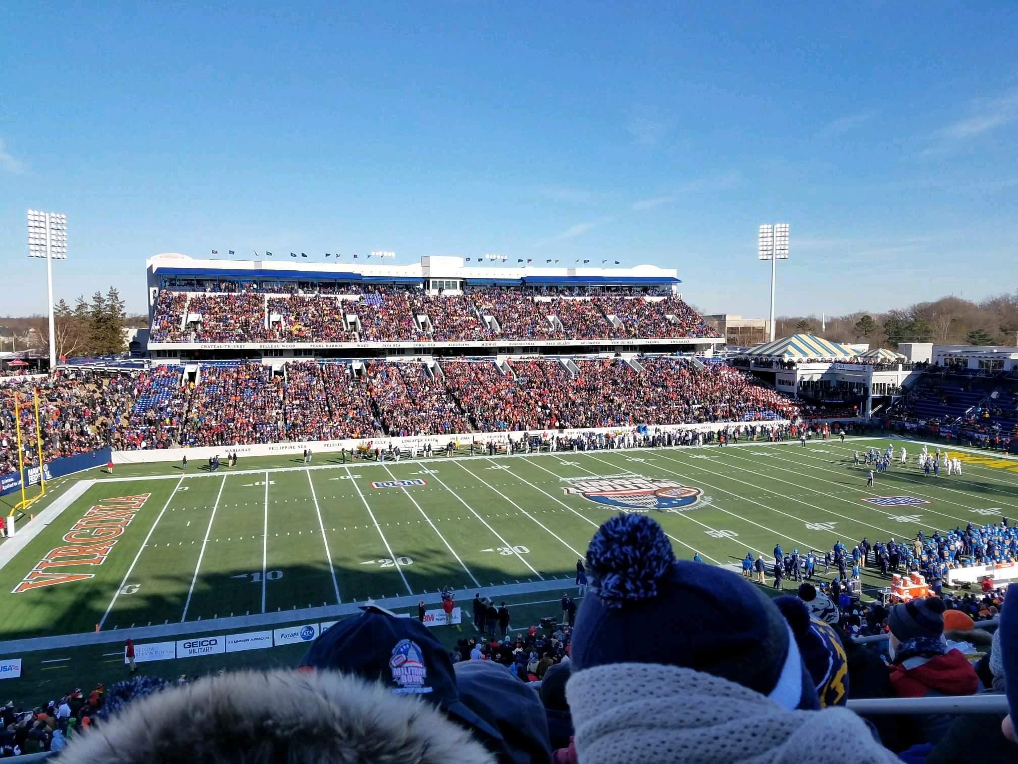 Navy-Marine Corps Memorial Stadium Secção 107 Fila 7 Lugar 9
