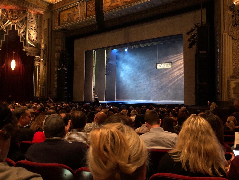 Hollywood Pantages Theatre Secção Orchestra RC Fila S Lugar 214