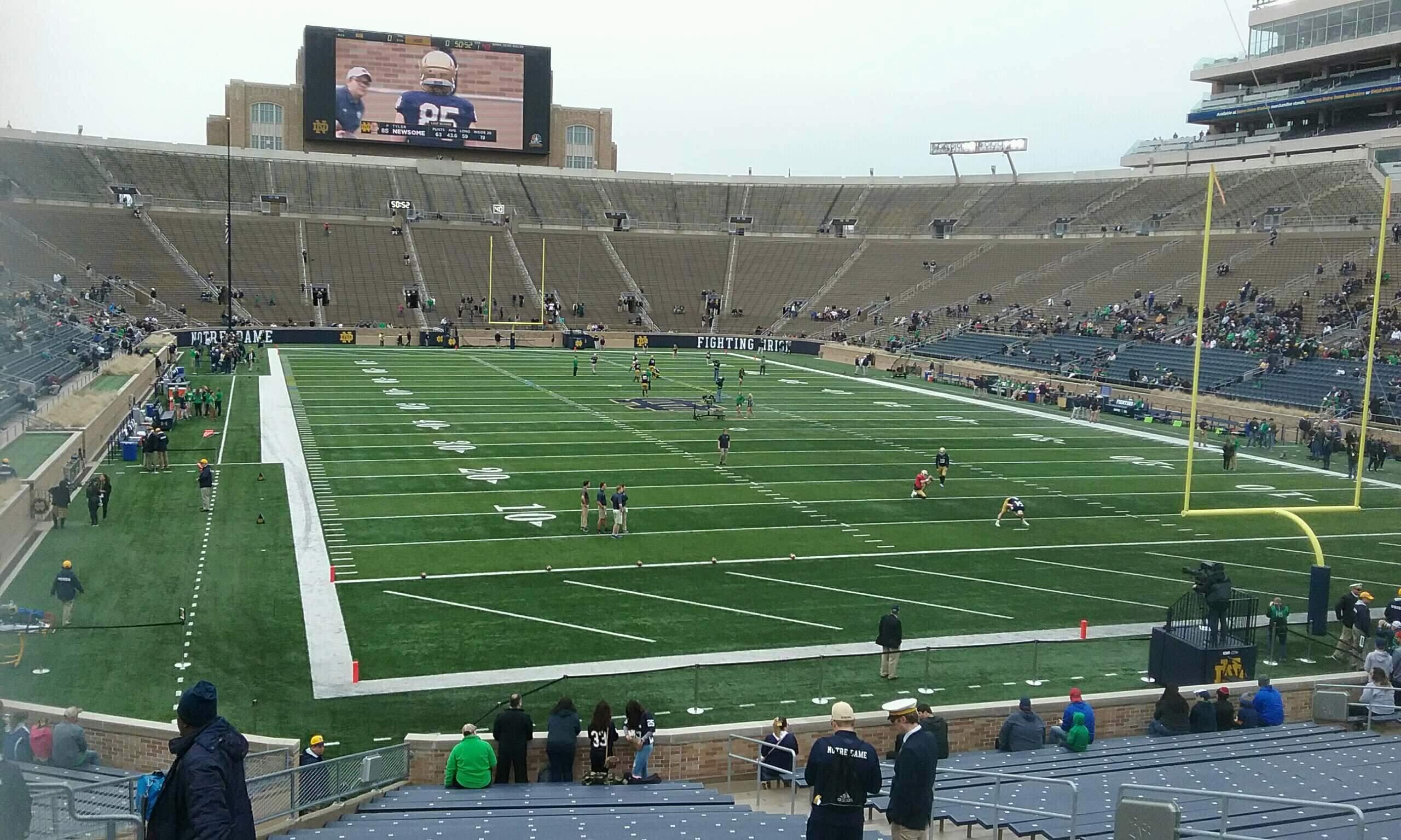 Notre Dame Stadium Secção 3 Fila 35 Lugar 14