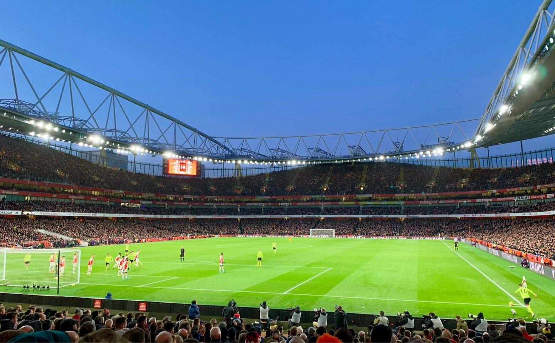 Emirates Stadium Secção 23 Fila 19 Lugar 705