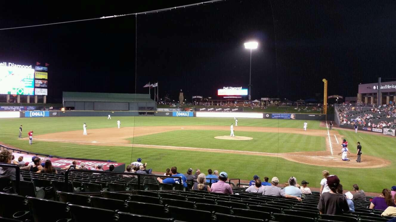 Dell Diamond Secção 117 Fila 20 Lugar 4