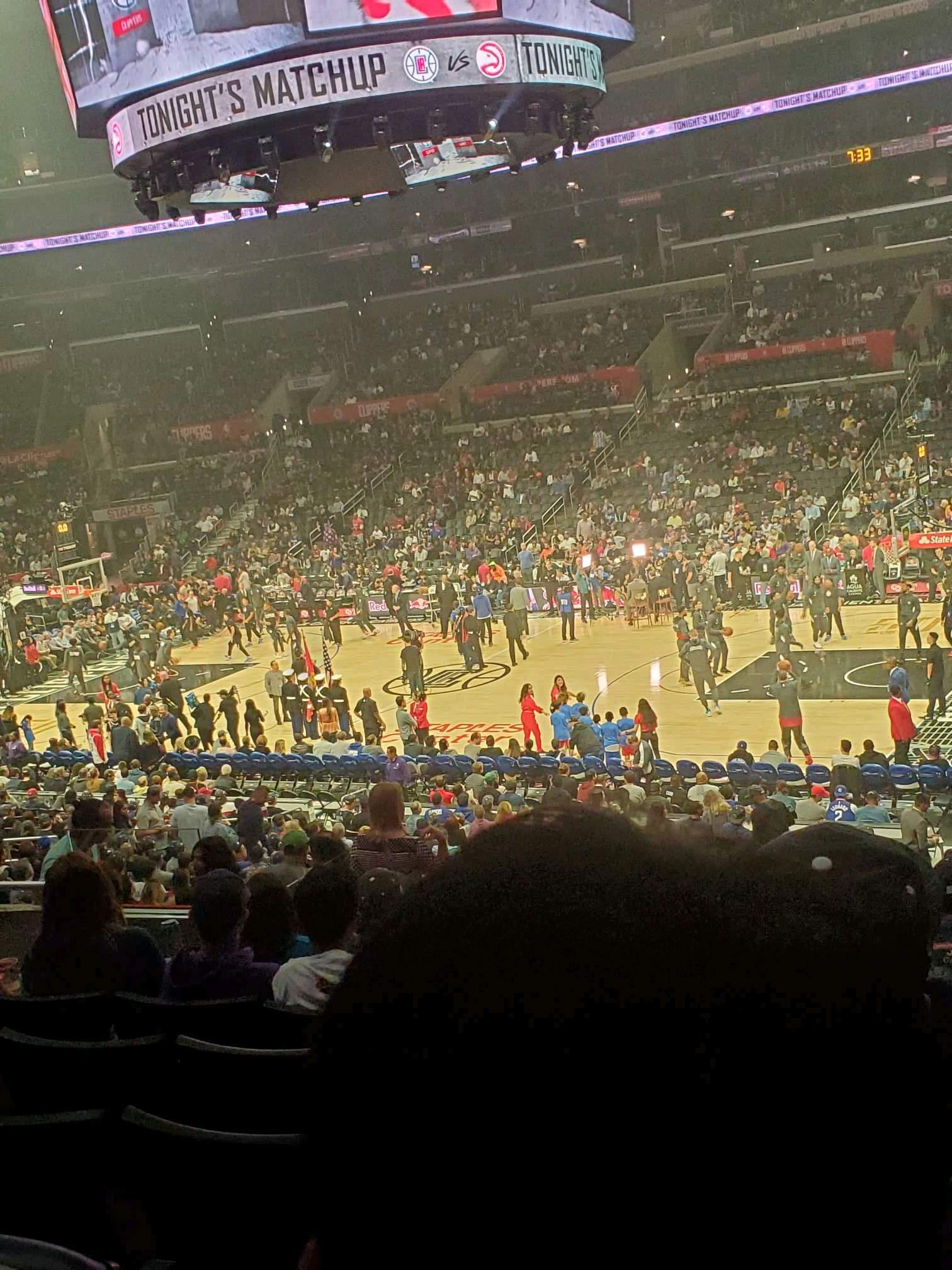 Staples Center Secção PR12 Fila 7 Lugar 6
