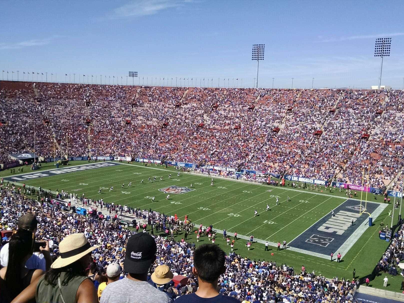 Los Angeles Memorial Coliseum Secção 3L Fila 80 Lugar 13