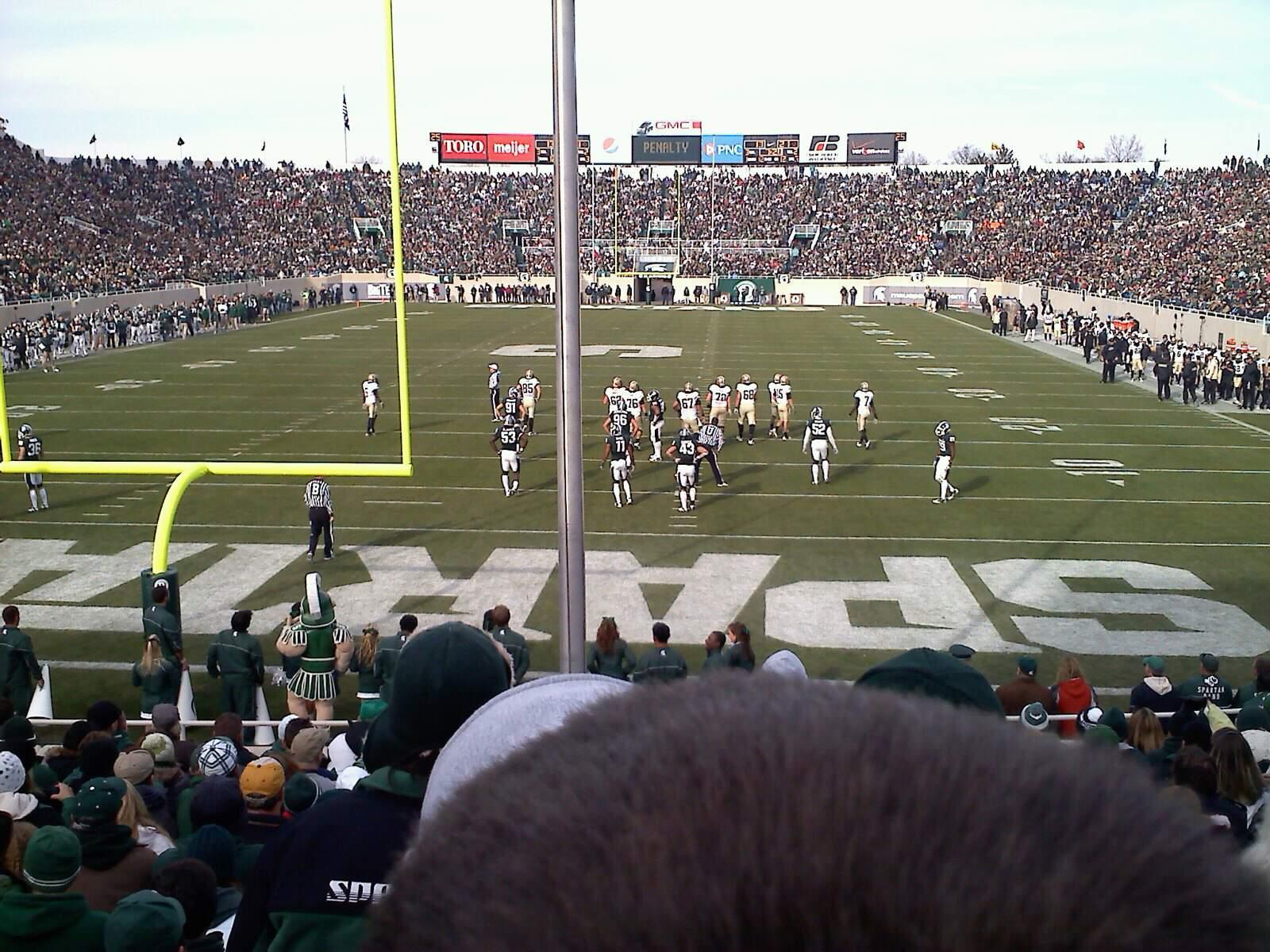 Spartan Stadium Secção 16 Fila 16 Lugar 21