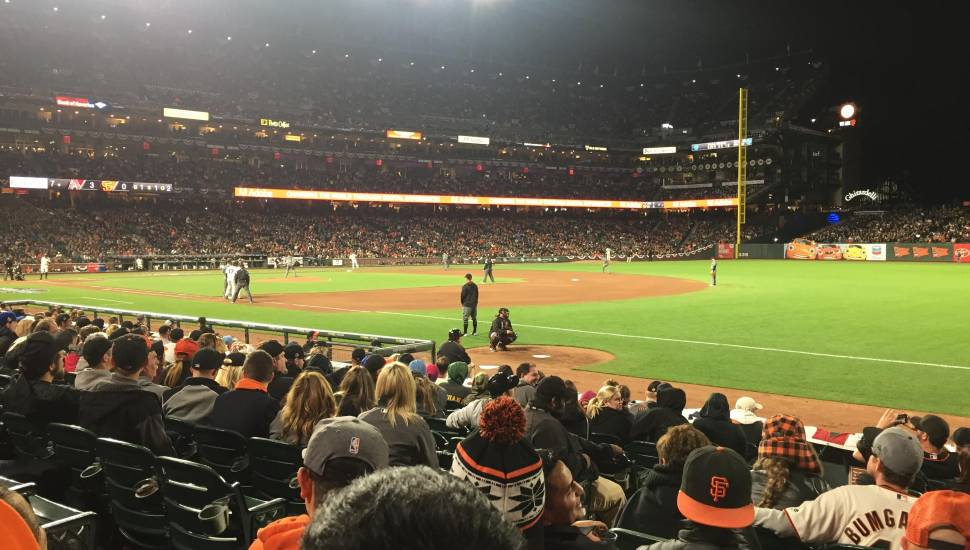 AT&T Park,  Secção <strong>524BR</strong>, Fila <strong>22</strong>, Lugar <strong>9</strong>