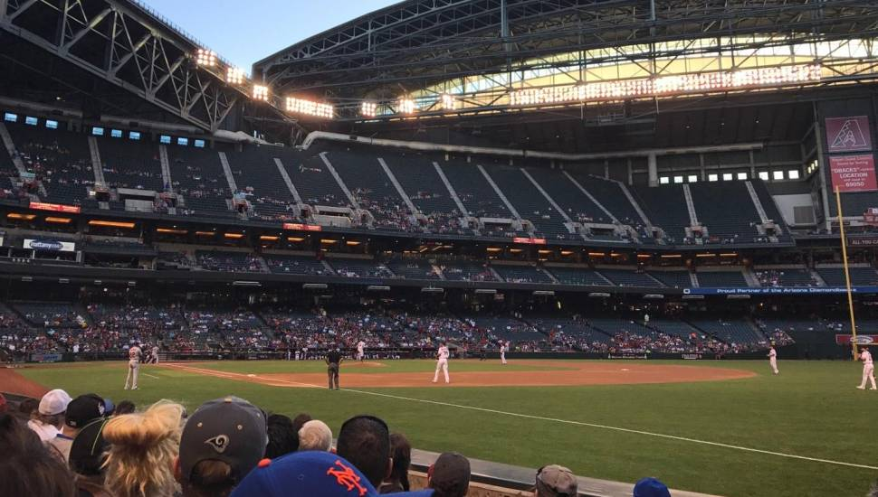 Chase Field,  Secção <strong>125</strong>, Fila <strong>4</strong>, Lugar <strong>19</strong>