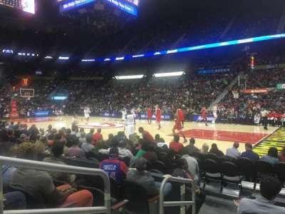 Philips Arena, secção: 102, fila: E, lugar: 9-10