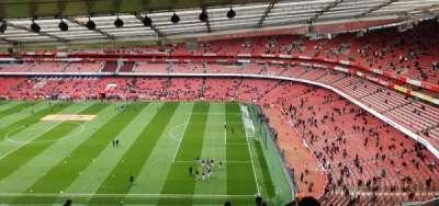 Emirates Stadium, secção: 110, fila: 25, lugar: 518