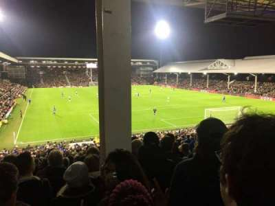 Craven Cottage, secção: P6, fila: MM, lugar: 134