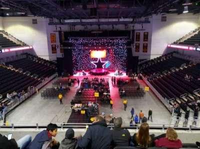 UMBC Event Center, secção: 200, fila: E, lugar: 10