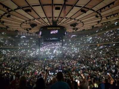 Madison Square Garden, secção: 102, fila: 22, lugar: 5