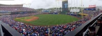 Kauffman Stadium, secção: 323, fila: A, lugar: 1