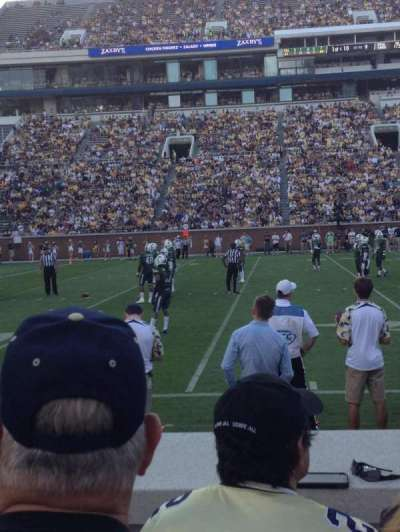 Bobby Dodd Stadium, secção: 128, fila: 4, lugar: 18