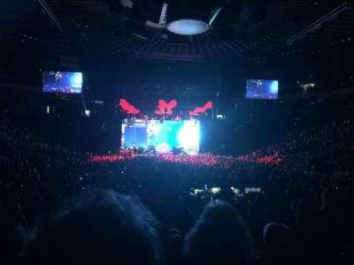 Oracle Arena, secção: 108, fila: 10, lugar: 11, 12