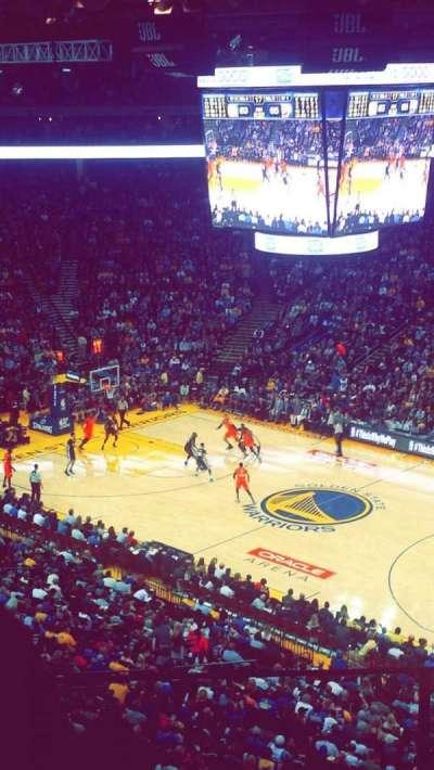 Oracle Arena, secção: 213, fila: 4, lugar: 6