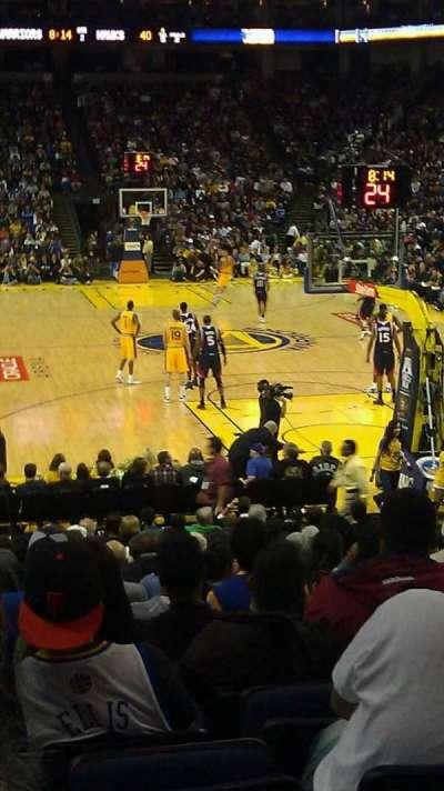 Oakland Arena secção 122