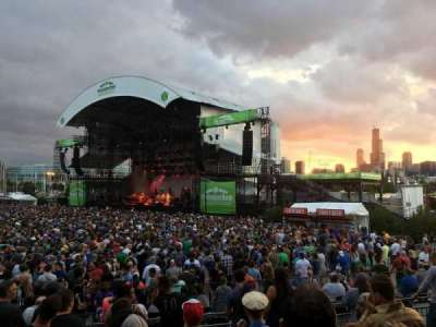 Huntington Bank Pavilion at Northerly Island, secção: F - VIP, fila: 1, lugar: 1
