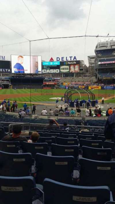 Yankee Stadium, secção: 121A, fila: 9, lugar: 10