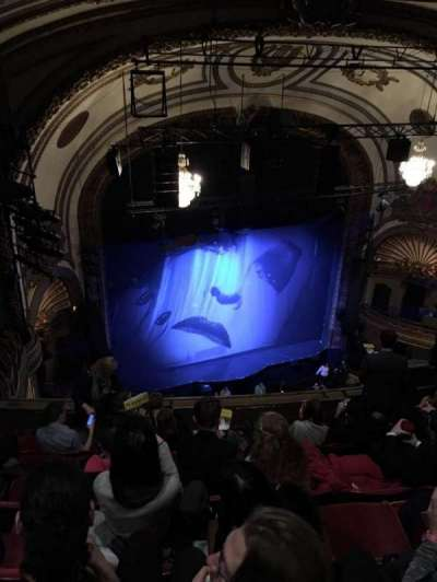 Palace Theatre (Broadway), secção: BALC L, fila: G, lugar: 19