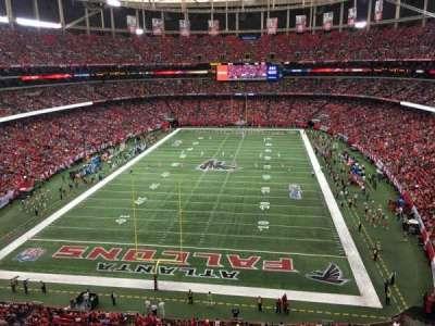 Georgia Dome, secção: 333, fila: 1, lugar: 7