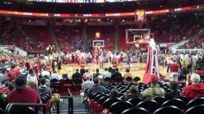 PNC Arena, secção: 127, fila: E, lugar: 9