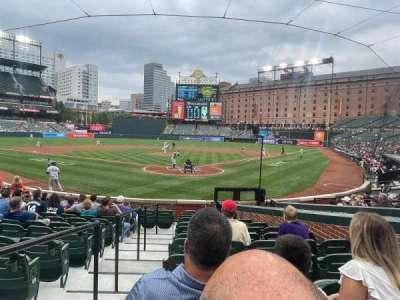 Oriole Park at Camden Yards, secção: 38, fila: 14, lugar: 7