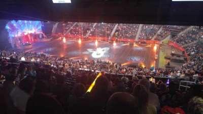Philips Arena, secção: 210, fila: M, lugar: 5
