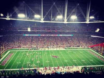 University of Phoenix Stadium, secção: 414, fila: 21, lugar: 12