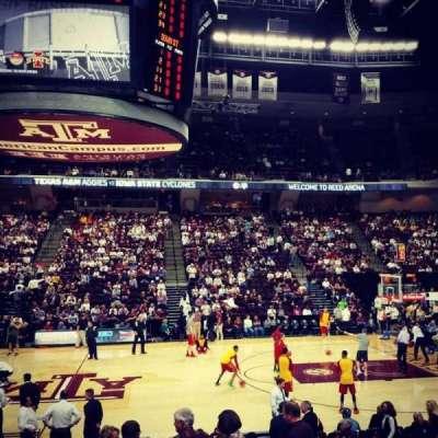 Reed Arena, secção: 121, fila: D, lugar: 3