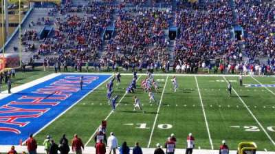 University of Kansas Memorial Stadium, secção: 23, fila: 28, lugar: 28