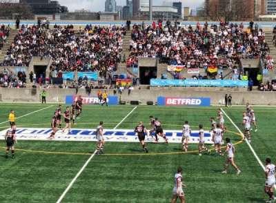 Lamport Stadium, secção: East, fila: Ga, lugar: Midfield
