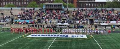 Lamport Stadium, secção: West, fila: Ga, lugar: Midfield