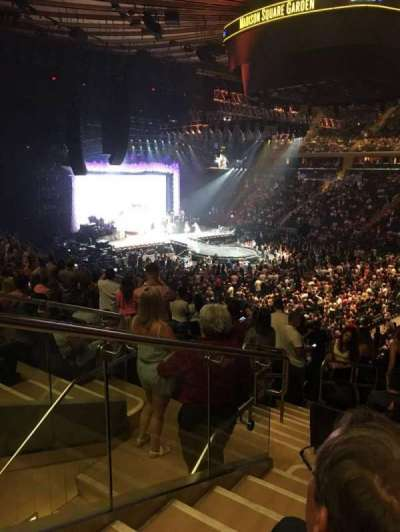 Madison Square Garden, secção: 119, fila: 22, lugar: 7