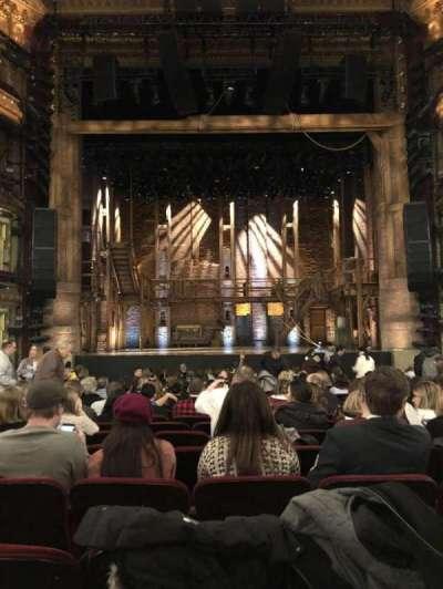 CIBC Theatre, secção: Orchestra Center, fila: T, lugar: 108