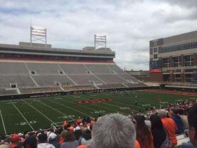Boone Pickens Stadium, secção: 207, fila: 23, lugar: 20