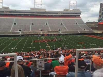 Boone Pickens Stadium, secção: 206, fila: 1, lugar: 15