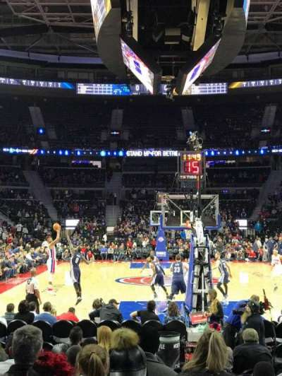 The Palace of Auburn Hills, secção: 120, fila: AA, lugar: 14