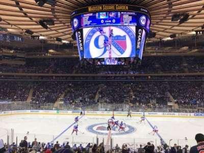 Madison Square Garden, secção: 107, fila: 18, lugar: 10