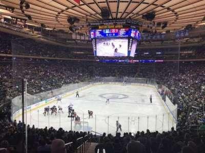 Madison Square Garden, secção: 103WC, fila: 20, lugar: 4