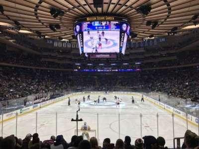 Madison Square Garden, secção: 112, fila: 12, lugar: 15