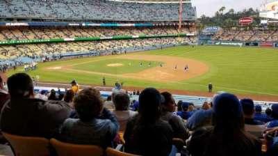 Dodger Stadium, secção: 144LG, fila: P, lugar: 4