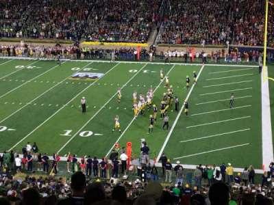 Notre Dame Stadium, secção: 125, fila: 7, lugar: 11