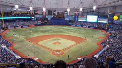 Tropicana Field, secção: 300, fila: N, lugar: 6