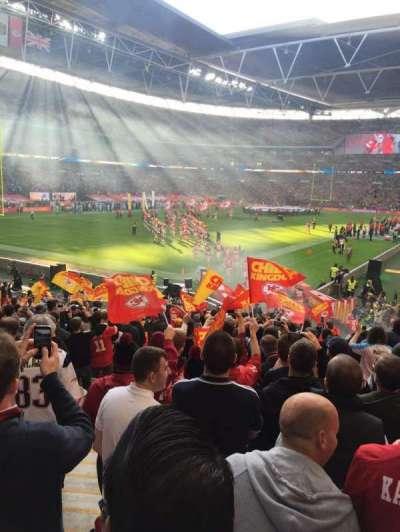 Wembley Stadium, secção: 108, fila: 25, lugar: 158