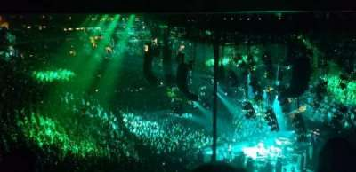 Madison Square Garden, secção: 414, fila: 3