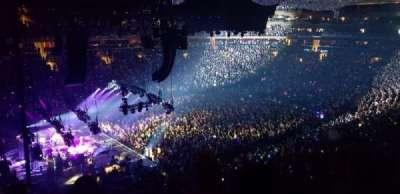 Madison Square Garden, secção: 221, fila: 6, lugar: 4