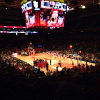 Madison Square Garden, secção: 110, fila: 16, lugar: 19