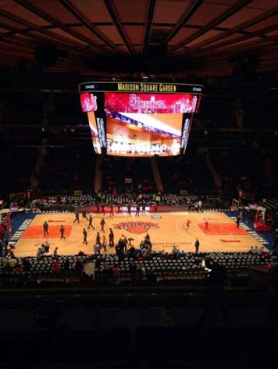 Madison Square Garden, secção: 224, fila: 6, lugar: 3