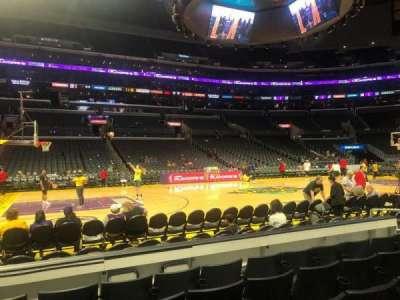 Staples Center, secção: 112, fila: 5, lugar: 13