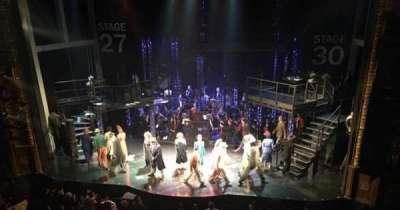 Palace Theatre (Broadway), secção: Mezzanine, fila: B, lugar: 114
